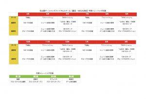 年間トレーニング計画(豊田・NAS大高)
